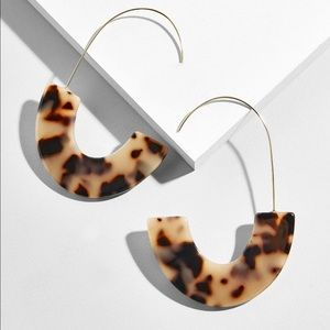 Acrylic Tortoise Shell Drop Earrings
